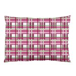 Pink plaid pattern Pillow Case (Two Sides)