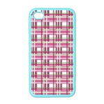 Pink plaid pattern Apple iPhone 4 Case (Color)