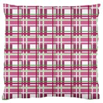 Pink plaid pattern Large Cushion Case (One Side)