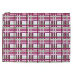 Pink plaid pattern Cosmetic Bag (XXL)