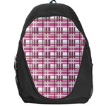 Pink plaid pattern Backpack Bag