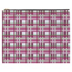 Pink plaid pattern Cosmetic Bag (XXXL)