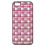 Pink plaid pattern Apple iPhone 5 Seamless Case (Black)