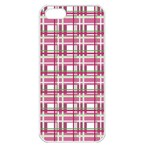 Pink plaid pattern Apple iPhone 5 Seamless Case (White)