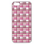 Pink plaid pattern Apple Seamless iPhone 5 Case (Clear)