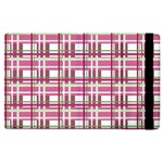 Pink plaid pattern Apple iPad 2 Flip Case