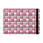 Pink plaid pattern Apple iPad Mini Flip Case
