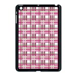 Pink plaid pattern Apple iPad Mini Case (Black)