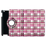 Pink plaid pattern Apple iPad 2 Flip 360 Case