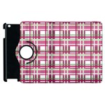Pink plaid pattern Apple iPad 3/4 Flip 360 Case