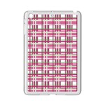 Pink plaid pattern iPad Mini 2 Enamel Coated Cases