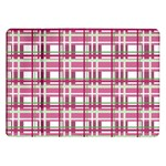 Pink plaid pattern Samsung Galaxy Tab 10.1  P7500 Flip Case