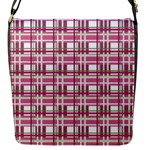 Pink plaid pattern Flap Messenger Bag (S)