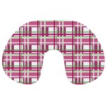 Pink plaid pattern Travel Neck Pillows