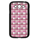 Pink plaid pattern Samsung Galaxy Grand DUOS I9082 Case (Black)