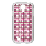 Pink plaid pattern Samsung GALAXY S4 I9500/ I9505 Case (White)