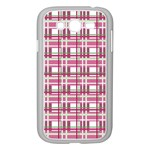 Pink plaid pattern Samsung Galaxy Grand DUOS I9082 Case (White)