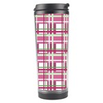 Pink plaid pattern Travel Tumbler