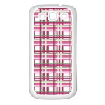 Pink plaid pattern Samsung Galaxy S3 Back Case (White)