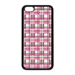 Pink plaid pattern Apple iPhone 5C Seamless Case (Black)
