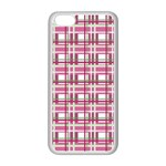 Pink plaid pattern Apple iPhone 5C Seamless Case (White)