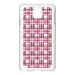 Pink plaid pattern Samsung Galaxy Note 3 N9005 Case (White)