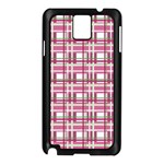 Pink plaid pattern Samsung Galaxy Note 3 N9005 Case (Black)