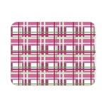 Pink plaid pattern Double Sided Flano Blanket (Mini)