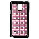 Pink plaid pattern Samsung Galaxy Note 4 Case (Black)