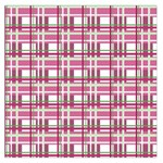 Pink plaid pattern Large Satin Scarf (Square)