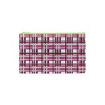 Pink plaid pattern Cosmetic Bag (XS)