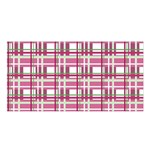 Pink plaid pattern Satin Shawl