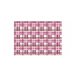 Pink plaid pattern Satin Wrap