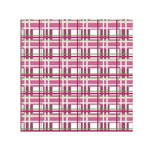 Pink plaid pattern Small Satin Scarf (Square)