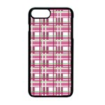 Pink plaid pattern Apple iPhone 7 Plus Seamless Case (Black)