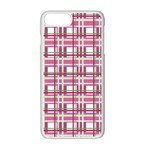 Pink plaid pattern Apple iPhone 7 Plus White Seamless Case