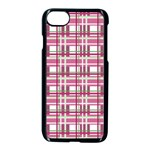Pink plaid pattern Apple iPhone 7 Seamless Case (Black)