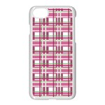 Pink plaid pattern Apple iPhone 7 Seamless Case (White)