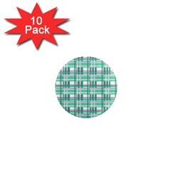 Green plaid pattern 1  Mini Magnet (10 pack)  from ArtsNow.com Front
