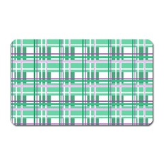 Green plaid pattern Magnet (Rectangular) from ArtsNow.com Front