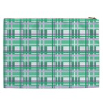 Green plaid pattern Cosmetic Bag (XXL)  from ArtsNow.com Back