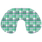 Green plaid pattern Travel Neck Pillows from ArtsNow.com Back