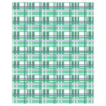 Green plaid pattern Drawstring Bag (Small) from ArtsNow.com Front