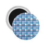 Blue plaid pattern 2.25  Magnets