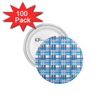 Blue plaid pattern 1.75  Buttons (100 pack)
