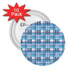 Blue plaid pattern 2.25  Buttons (10 pack)