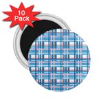 Blue plaid pattern 2.25  Magnets (10 pack)