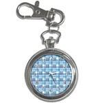 Blue plaid pattern Key Chain Watches
