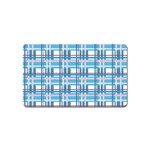 Blue plaid pattern Magnet (Name Card)