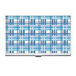 Blue plaid pattern Business Card Holders